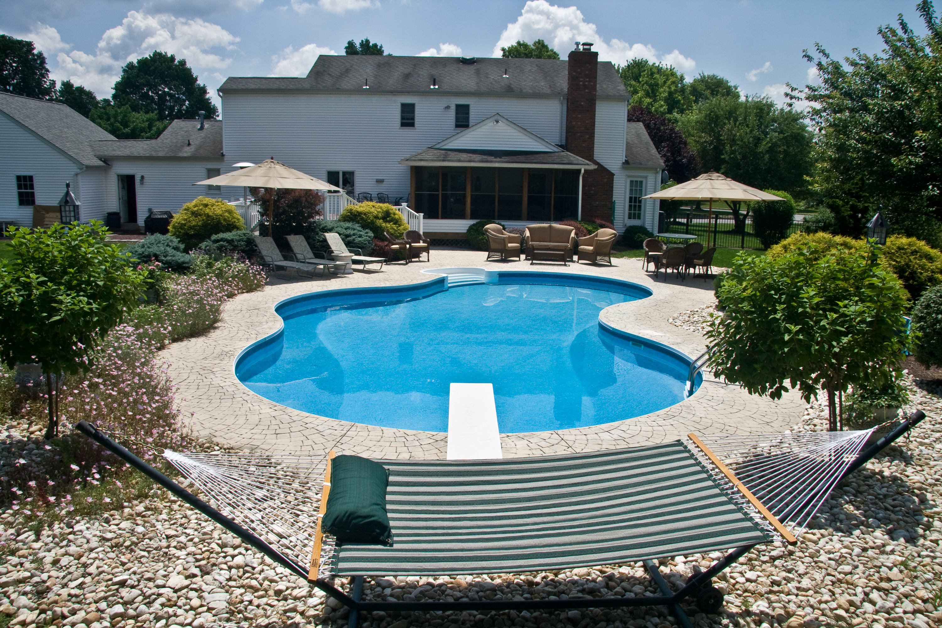 Pool decks monroe new jersey pool builder decking for Pool design options